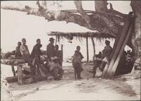 A crowd listening to the church congress addresses, Honggo, Solomon Islands, 1906 / J.W. Beattie