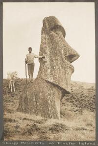 Strange monuments on Easter Island