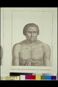 Homme du Cap de Diemen : Finau, Chef des Guerriers de Tongatabou / Dien scripsit