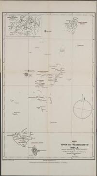 Karte der Tonga oder Freundschafts-Inseln : auf basis der englischen Admiralitätskarten / gezeichnet von L. Friederichsen