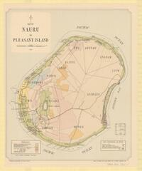 Map of Nauru or Pleasant Island / drawn by Property and Survey Branch, Dept. of Interior