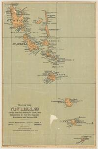 Map of the New Hebrides