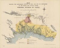 Map showing the approximate position of coal, gas, and oil discoveries on the Purari and Vailala Rivers, Western Division of Papua