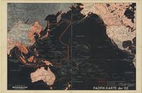 Pazifik-karte der DZ / Herausgegeben durch die Deutsche Zeitung in den niederlanden