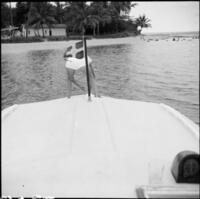 Boat at Nukulau Island anchorage, Fiji, 1966 / Michael Terry