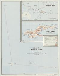 General map of American Samoa / produced by Dept. of Lands & Survey for J.I.B. (NZ)