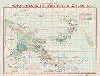 Annual average isohyetal map of Papua and Mandated Territory of New Guinea