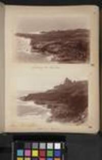 Landing place, Niuafo'ou; Coast view, Niuafo'ou, Tonga, c1880 to 1889