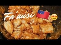Fa'ausi - Coconut & Caramel sauce with Fa'apapa (Samoan bread)