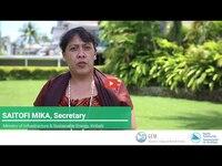 Saitofi Mika, Kiribati Ministry of Infrastructure and Sustainable Energy - Water World Day