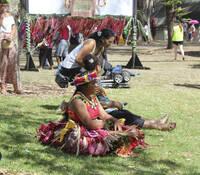Tuvalu performer, Pasifika Festival.