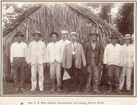 C.H. Mills and elders at Mauke, Cook Islands, 1903