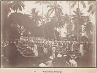 Dancers welcoming the New Zealand Parliamentary party at Rarotonga, 1903