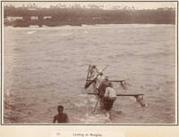 The New Zealand Parliamentary party landing at Mangaia, Cook Islands, 1903