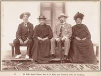 Pa Ariki, Queen Makea, Hon. C. H. Mills, and Tiroana Ariki at Rarotonga, 1903
