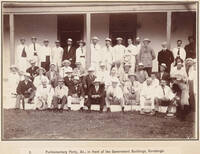 The New Zealand Parliamentary party at Rarotonga, 1903