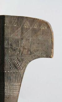 Fa'alautaliga club (ear-shaped club)