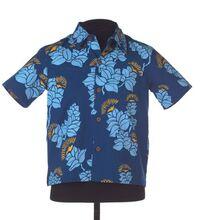 Keiki 'A'alahonua Aloha Shirt Prussian Nālehua