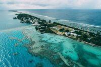 Aerial shot of Nukunonu, Tokelau