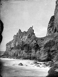 Pinnacles above coastal rocks