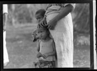 A close-up portrait of local Tongan children, Tonga