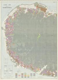 Land use map of Rarotonga / produced by the Geography Department, Massey University, Palmerston North, New Zealand ; drawn by the Department of Lands & Survey, Wellington, N.Z. ; field survey by I.G. Bassett, Aug-Sept. 1965