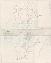 Sketch map of portion of territory of New Guinea and Papua showing route taken by J.A. Thurston expedition - April to September, 1947 (J.R. Black Map Collection / Item 150)