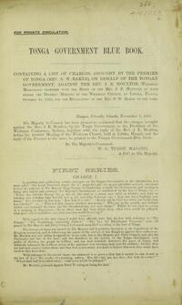 Tonga government blue book.