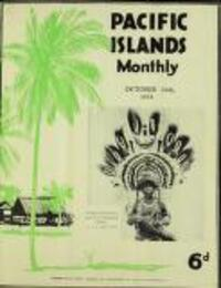 PACIFIC ISLANDS Monthly (24 October 1933)