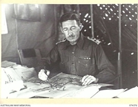SIAR, NEW GUINEA. 1944-06-27. VX24235 BRIGADIER H.H. HAMMER, DSO, COMMANDING OFFICER, 15TH INFANTRY BRIGADE