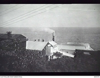 NAURU. C.1940. ELEVATED VIEW OF THE BRITISH PHOSPHATE COMMISSION'S FACILITY. (NAVAL HISTORICAL COLLECTION)