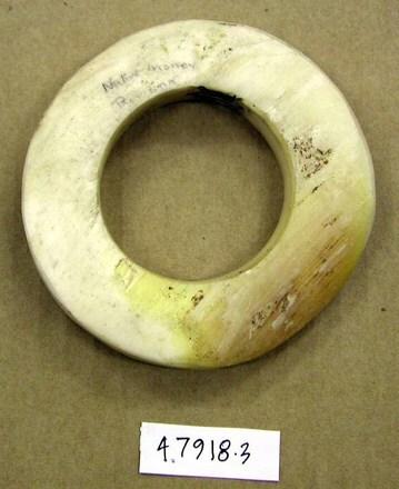 Shell money bracelet