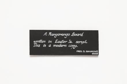 Rongorongo board