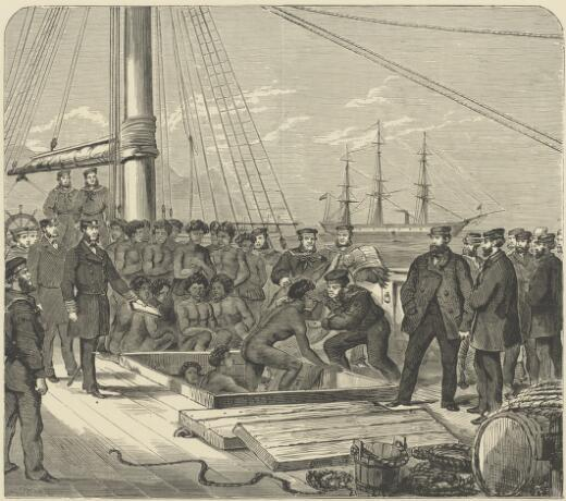 Seizure of the slaver Daphne by H.M.S. Rosario / O.R.C. ; S.C