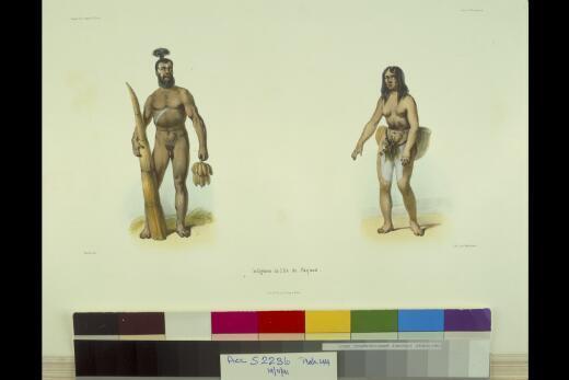 Indigenes de l'ile de Paques / Mesnard delt.; lith. par Blanchard