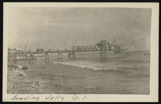 Loading jetty, Ocean Island, Kiribati, 1920-1929