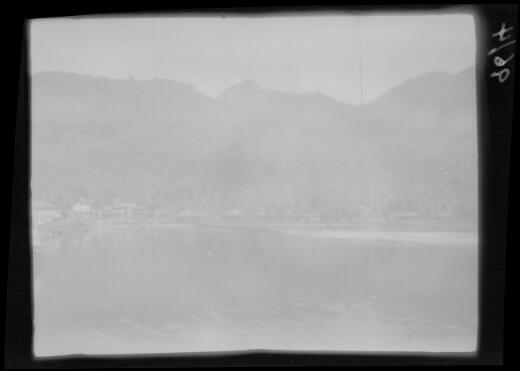 Cottages at edge of harbour, Pago Pago, American Samoa, Tutuila Island, approximately 1924 / Michael Terry