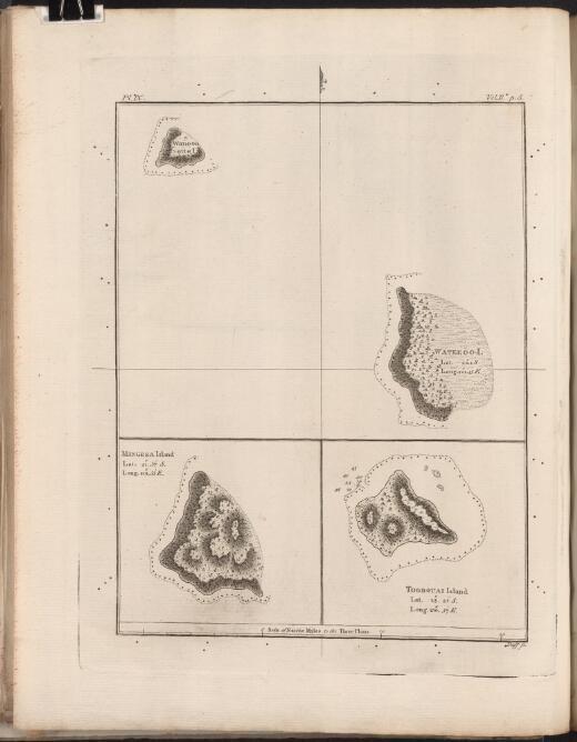 Wanooaette I; Wateeoo I; Mangeea Island [and] Toobouai Island