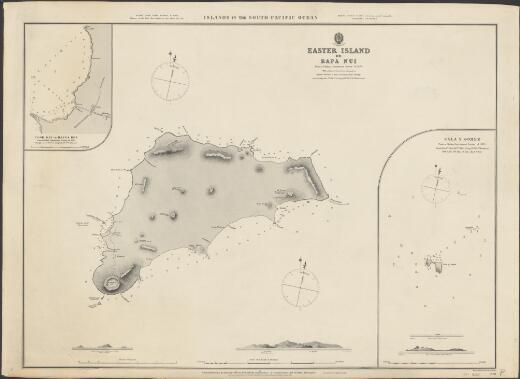 Easter Island, or, Rapa Nui : from a Chilian Government survey of 1870 with additions from former navigators / engraved by Davies & Company