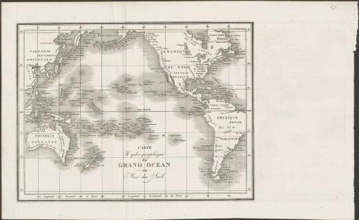 Carte hydrographique du grand ocean ou Mer du sud