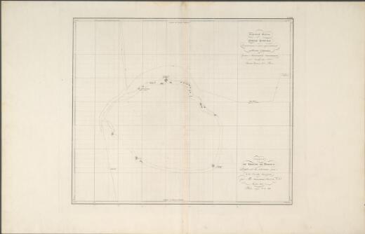 Ploskai︠a︡ karta Gri︠a︡dy Brouna / sostavlennai︠a︡ s opisi proizvedennoĭ na shli︠u︡pi︠e︡ Seni︠a︡vini︠e︡ flota Leĭtenantom Zavalishinym = Carte du Groupe de Brown / dressee sur les relevemens pris de la corvette Seniavine par Mr. Zavalichine Lieutnt de Veau
