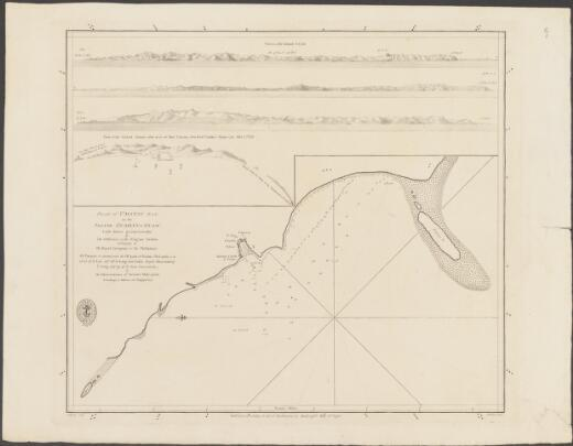 Plan of Umatac Bay on the island Guahan or Guam. laid down geometrically by the officers of the frigate Astrea belonging to the Royal Company of the Philipinas ; I. Palmer, scrip. ; J. Walker, sculpt