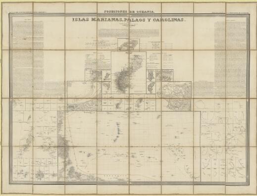 Islas Marianas, Palaos y Carolinas / por el Leniente Coronel, Capitan de Ingenieros D. Francisco Coello, Madrid 1852