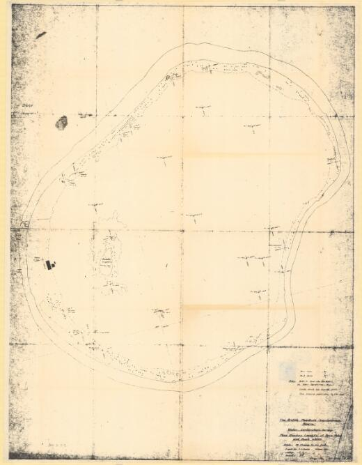 Nauru : water exploration survey : plan showing locality of bore holes and bush wells / British Phosphate Commission ; drawn by D.S. Marks