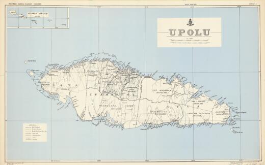 Western Samoa Islands 1:100,000