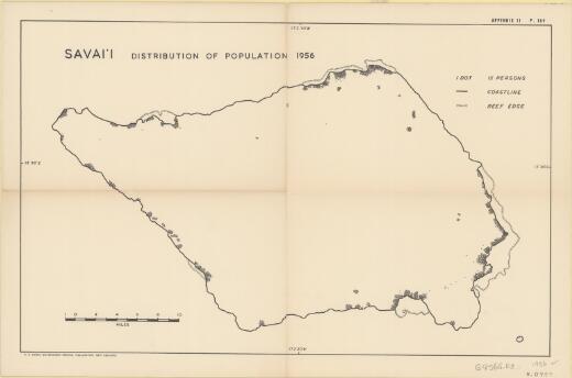 Savai'i : distribution of population 1956