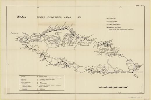 Upolu : census enumeration areas 1956 / P. Pirie