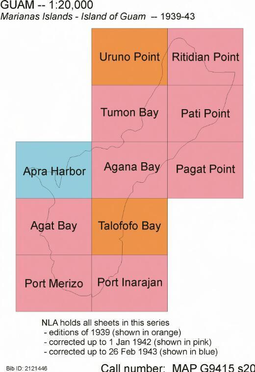 Marianas Islands : Island of Guam / Corps of Engineers Tactical Map ... [et al.]