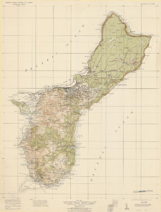 Island of Guam / Corps of Engineers, U.S. Army, Tactical Map