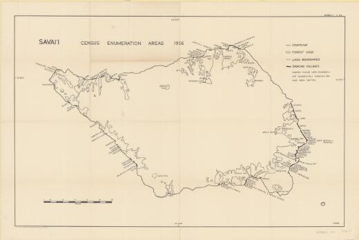 Savai'i : census enumeration areas 1956 / P. Pirie